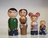 Custom Wooden family Wee-Me dolls