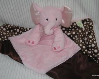 Security Blanket, Lovie, Luvy - elephant - Lovems