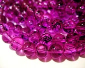 CLOSING SHOP - 25 orchid plum glass beads - 8mm B491