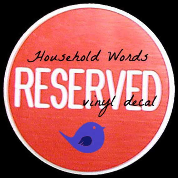 REServed monogram decal