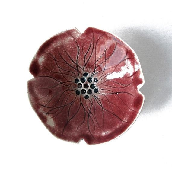 Poppy flower bowl