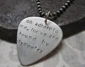 custom silver guitar pick necklace