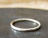 1 mm custom rustic wedding band. 14k yellow gold