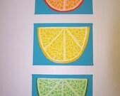 Citrus Slice Trio - Recycled Plastic Mosaic
