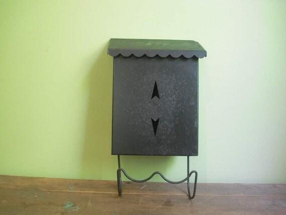 FREE SHIPPING Vintage Black Mailbox