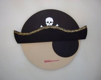 Pirate Invitation, Pirate Party Birthday Invite, Customizable