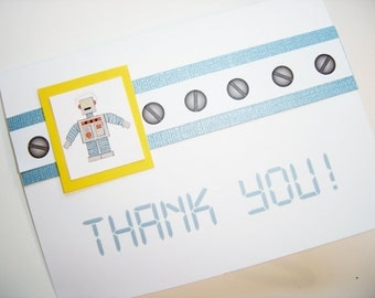 Robot Stationery or Thank You Cards