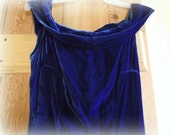 Vintage Blue Velvet Party Dress