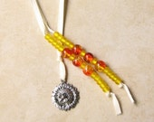 Sunflower and Bee Beaded Bookmark