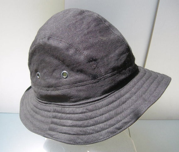 Organic Black Cloth Hiking Hat