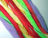 KAS Hand Dyed Silk Ribbons BRIGHTS