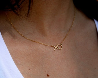 XO Necklace - Hugs and Kisses - Love Initials - Jennifer Cervelli Jewelry