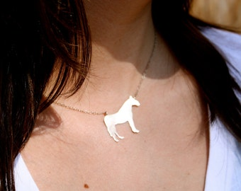 Animal Silhouette Necklace - Custom - Brass, Copper, Sterling Silver - Gifts for Animal Lover - Custom Jewelry - Jennifer Cervelli Jewelry