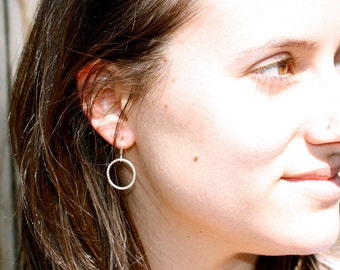 Small Endless Earrings in Sterling Silver