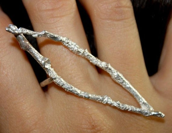 Branch Ring - One of a Kind - Sterling Silver - Jennifer Cervelli Jewelry