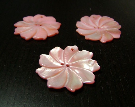 CLEARANCE !!! Spun Sugar Flower Trio in Cotton Candy