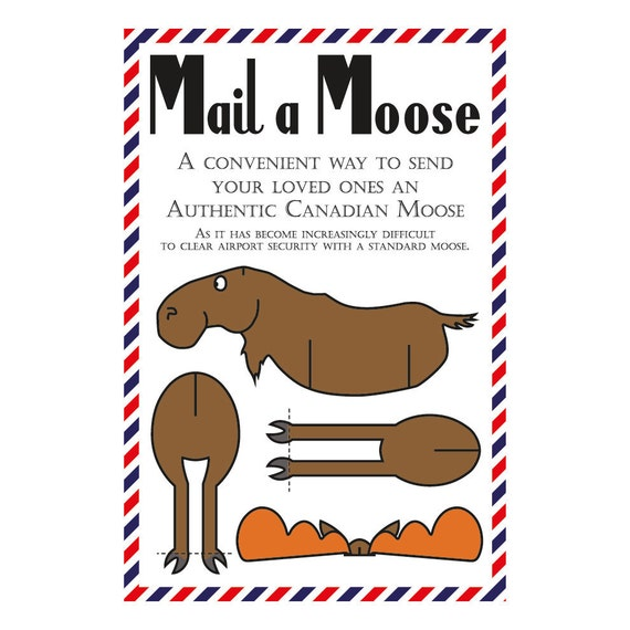 Set of 10 Mail a Moose Postcards (Canadian Moose)