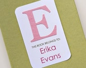 Custom Bookplates with Fabric Monogram