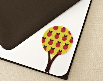 Tree Hugger - Fabulous Forest Edition // Fabric Note Cards // Thank You Cards // Post Card // For all occasions // Stationery