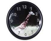 Giraffe 10 Inch Wall Clock - Free Battery Included
