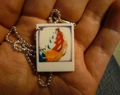 Tiny Polaroid Necklace - Carnival Series - Ice Cream Sign