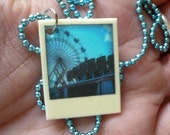 Tiny Polaroid Necklace - Carnival Series - Ferris Wheel and Arcade