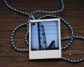 Tiny Polaroid Necklace - Cleveland Series - Lift Bridge No. 2