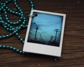 Tiny Polaroid Necklace - Cleveland Series - Telephone Wires