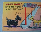 Reduced-WWll color litho cartoon postcards dogs