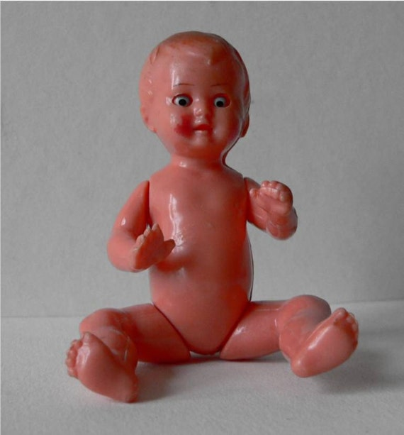 ES Germany marked plastic baby doll