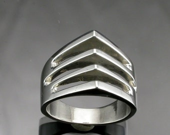 Sterling Silver Slot Ring