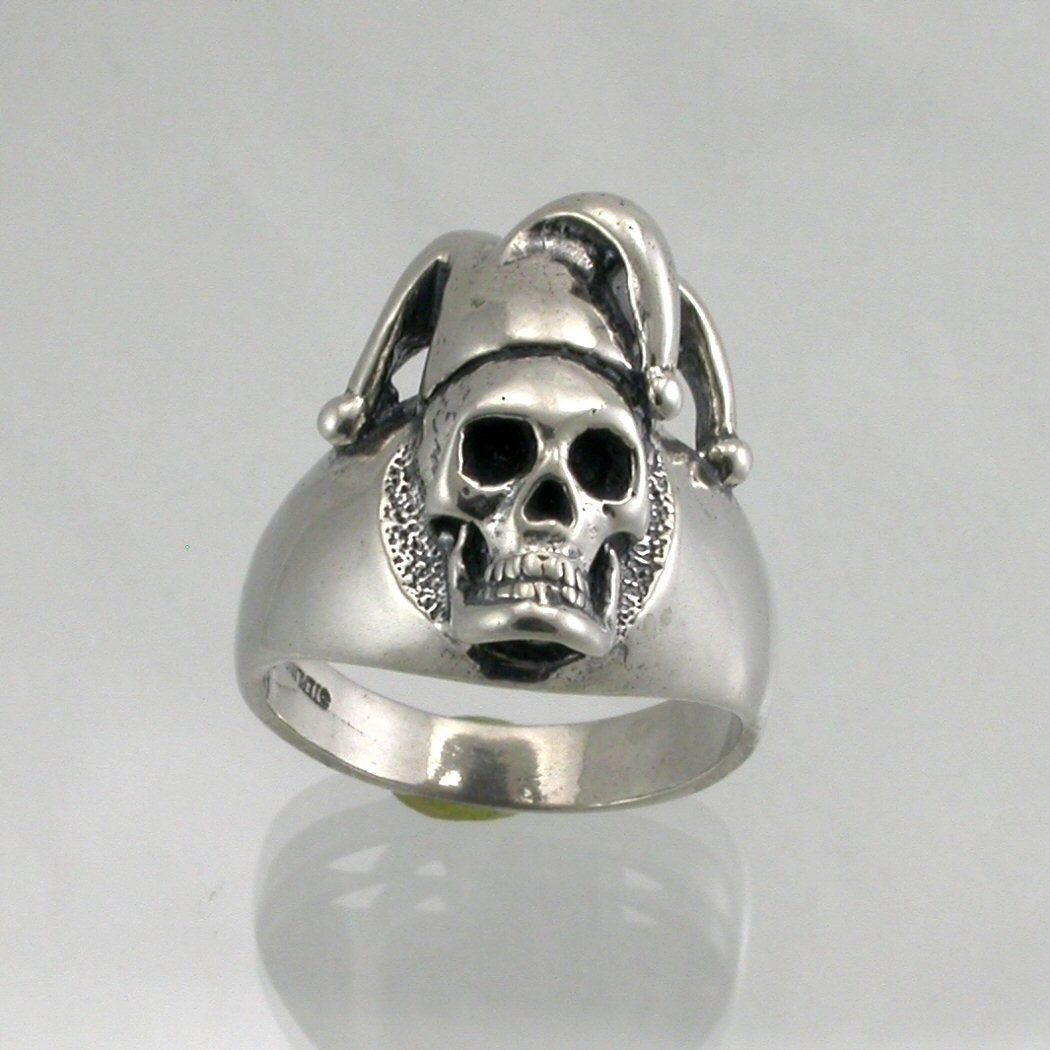 Sterling Silver Jester Skull Ring By Jewelerjim On Etsy