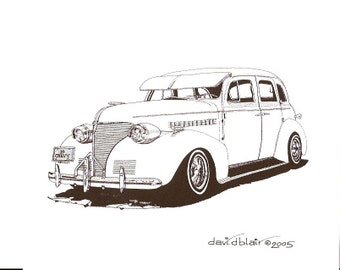 39 Chevy     Lowrider    8 in x 10 in Print    Open Edition