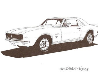 1967 Chevy Camaro RS      8 in x 10 in         Print Open Edition