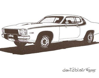 1974 Plymouth Roadrunner       8 in x 10 in     Print Open Edition