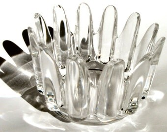 vintage Orrefors Swedish Princess crystal vase