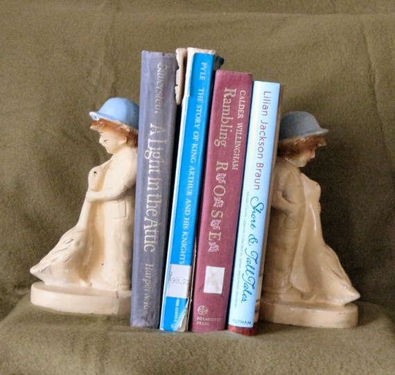 Vintage 1930s Child and Goose bookends