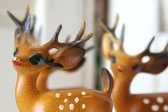Vintage Plastic Deer - Free Domestic Shipping