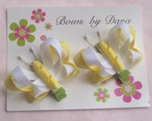 Set of 2 Butterfly Bows in Yellow
