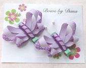 Set of 2 Butterfly Bows M2MG Butterfly Blossoms in Purples