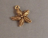Starfish Charm gold pewter