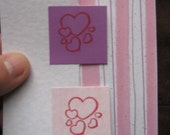 Z-Fold 4x5 Pink Striped Thinking of You Card