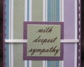 4x5 Purple Sympathy Card