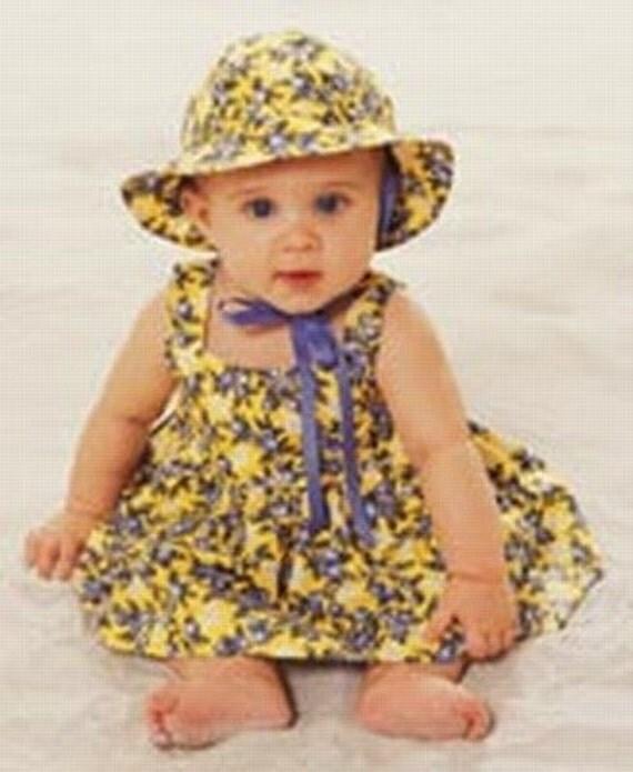 Pinafore Sewing Pattern, Newborn to 4 Years, Baby, Toddler