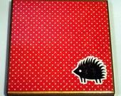 Coaster - Porcupine and Polka Dots