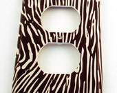 Switchplate  Wall Decor Light Switch Cover  Outlet Plate in Faux Bois (273O)