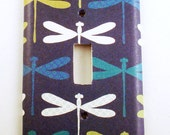 Light Switch Cover Wall Decor Switchplate in Dragonfly Navy (237S)
