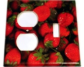Kitchen Light Switch Cover Wall Decor  Combo Switchplate  in  Very Berry (249C)