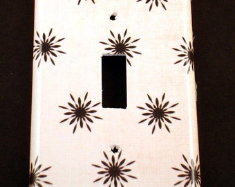 Light Switch Cover  Wall Decor SIngle Switchplate  Funky Switch Plate  in  Twinkle (186S)