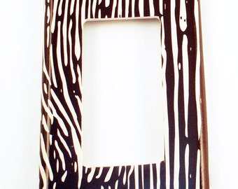 Light Switch Cover Wall Decor Rocker Switchplate in Faux Bois  (273R)